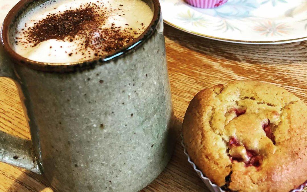 Lara's Raspberry & coconut muffins