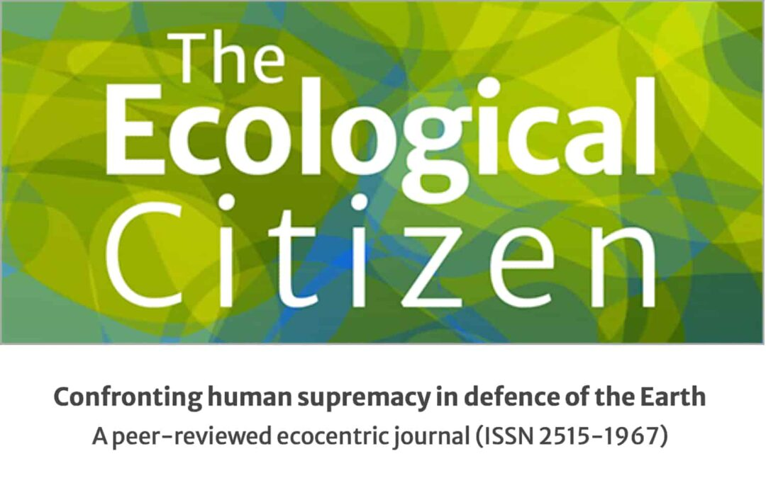 The Ecological Citizen themes issue callout